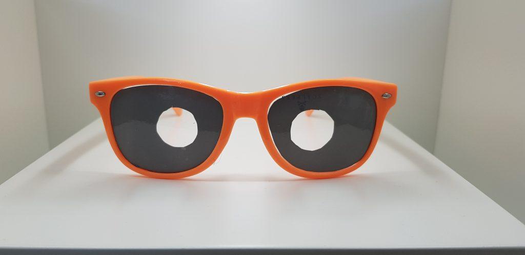 Gafa con pérdida de visión perférica por glaucoma o retinosis pigmentaria